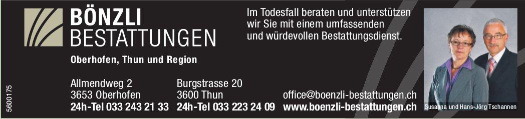 Bönzli Bestattungen, Oberhofen, Thun & Region