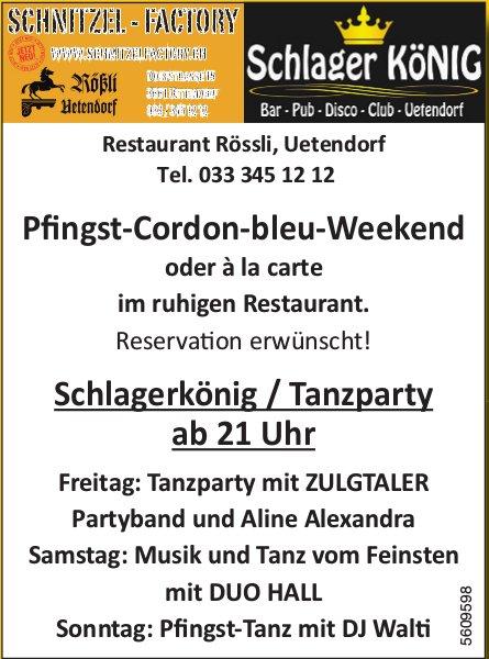Restaurant Rössli, Uetendorf - Pfingst-Cordon-bleu-Weekend / Programm