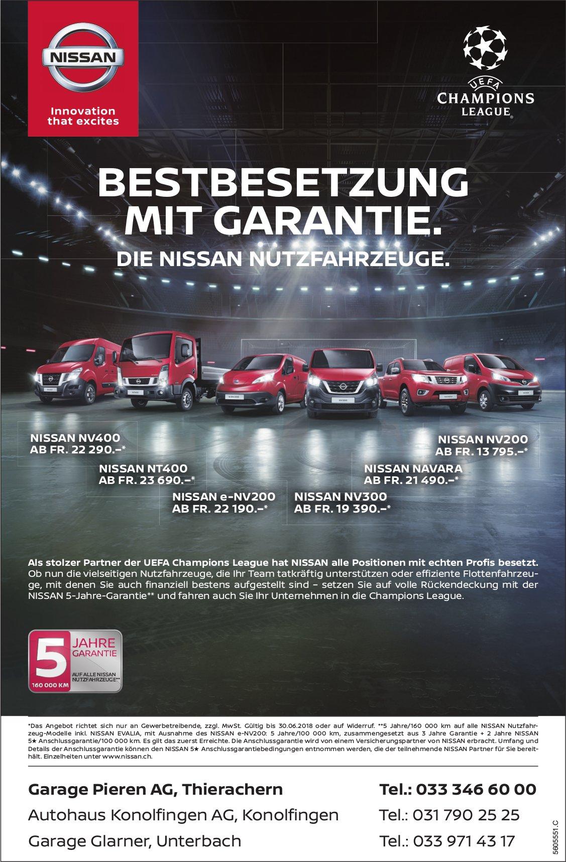 Die Nissan Nutzfahrzeuge - Bestbesetzung mit Garantie
