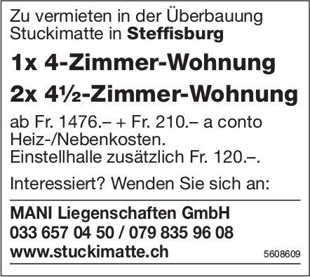 1x 4-Zi.-Wohnung + 2x 4½-Zi.-Wohnung in Steffisburg zu vermieten