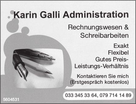 Karin Galli Administration - Rechnungswesen & Schreibarbeiten