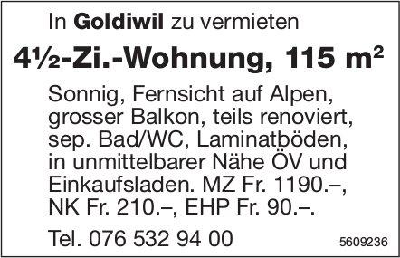 4½-Zi.-Wohnung, 115 m2, in Goldiwil zu vermieten