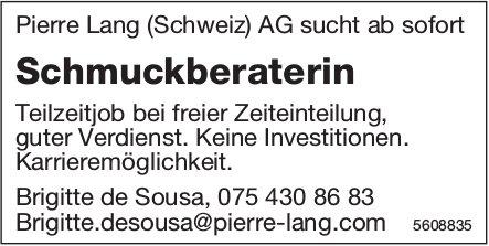 Schmuckberaterin, Pierre Lang (Schweiz) AG, gesucht