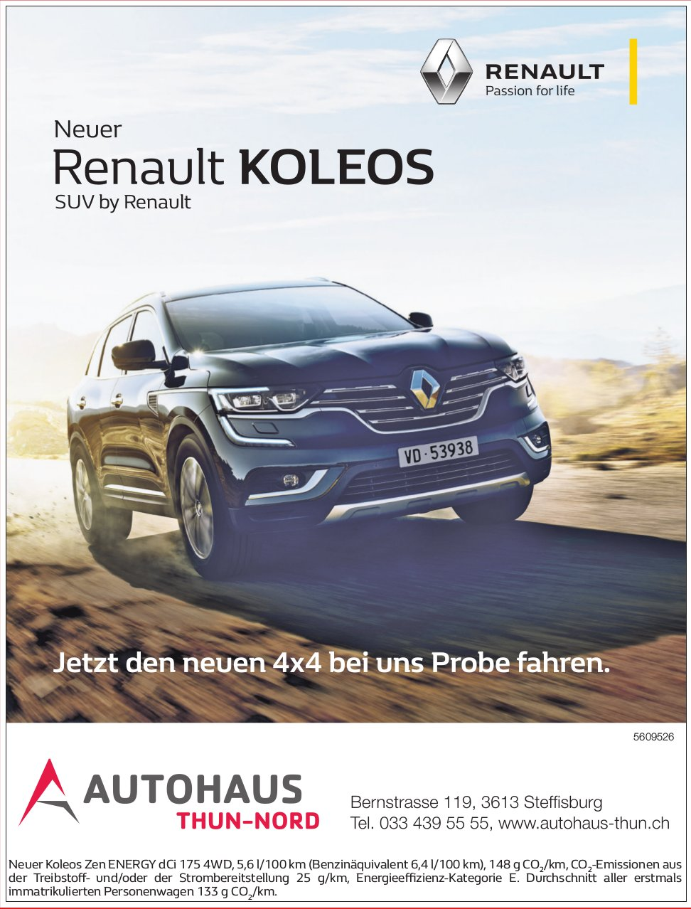 Autohaus Thun-Nord - Neuer Renault Koleos, SUV by Renault