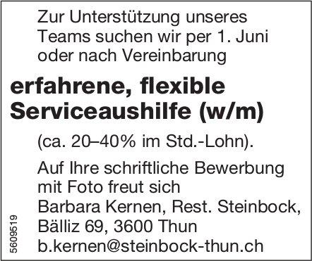 Serviceaushilfe (w/m), Rest. Steinbock, Thun, gesucht