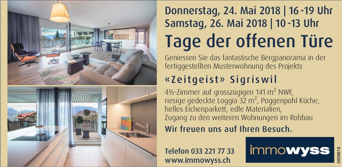 «Zeitgeist» Sigriswil, 4.5-Zimmer - Tage der offenen Türe am 24. + 26. Mai