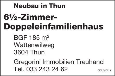Neubau in Thun: 6½-Zimmer-Doppeleinfamilienhaus
