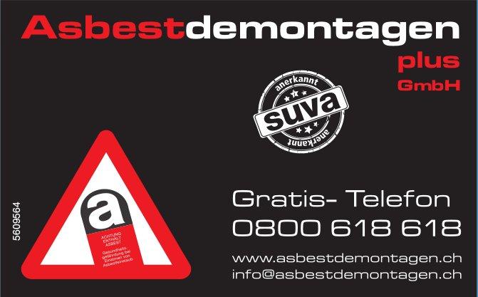 Asbestdemontagen plus GmbH - Gratis-Telefon 0800 618 618