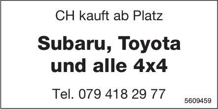 CH kauft ab Platz Subaru, Toyota und alle 4x4