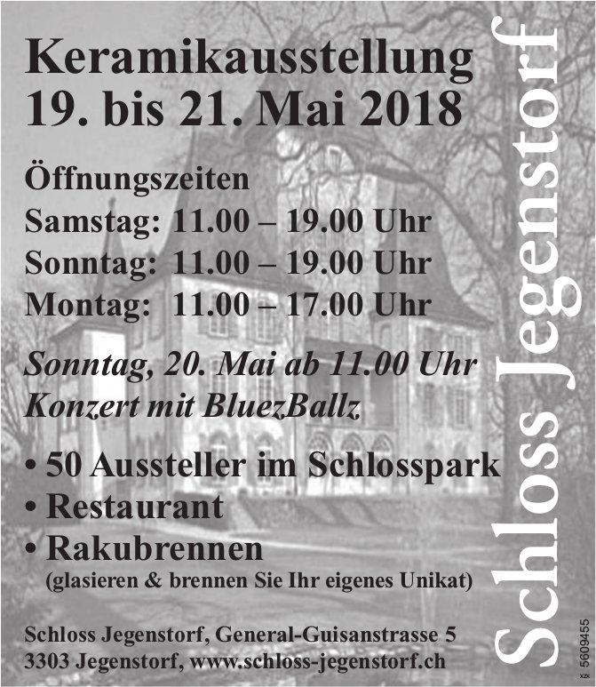 Schloss Jegenstorf - Keramikausstellung 19. bis 21. Mai
