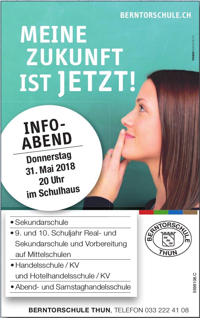 Berntorschule Thun - Info-Abend am 31. Mai