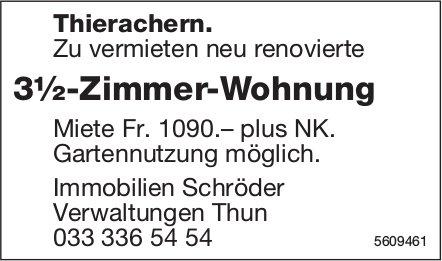 3½-Zimmer-Wohnung in Thierachern zu vermieten