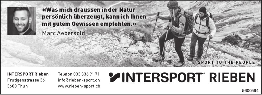 Intersport Rieben, Thun - Sport to the people