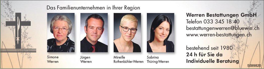 Werren Bestattungen GmbH -Das Familienunternehmen in Ihrer Region