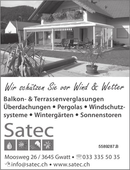 Satec - Wir schützen Sie vor Wind & Wetter