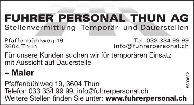 Maler, Fuhrer Personal Thun AG, gesucht