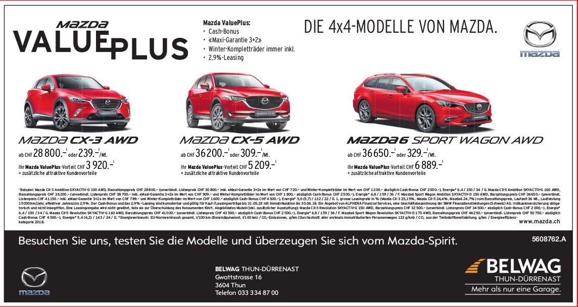 BELWAG Thun-Dürrenast - Die 4x4-Modelle von Mazda
