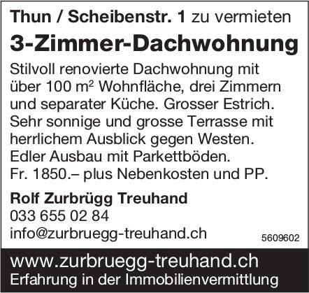 3-Zimmer-Dachwohnung in Thun zu vermieten