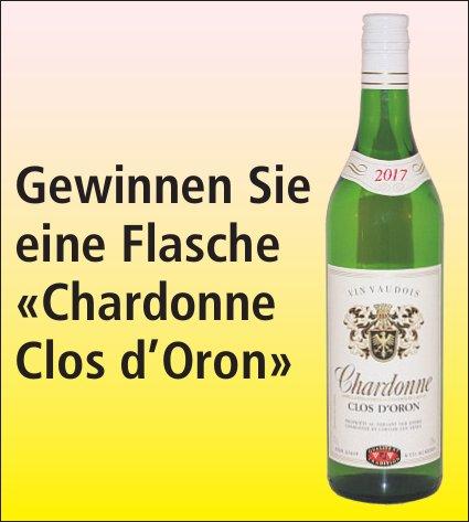 Gewinnen Sie eine Flasche «Chardonne Clos d'Oron»
