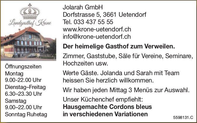Jolarah GmbH - Der heimelige Gasthof zum Verweilen.