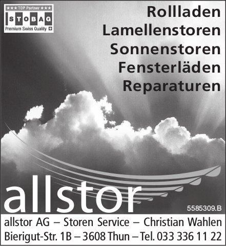 Allstor AG, Thun - Rollladen, Sonnenstoren, Fensterläden