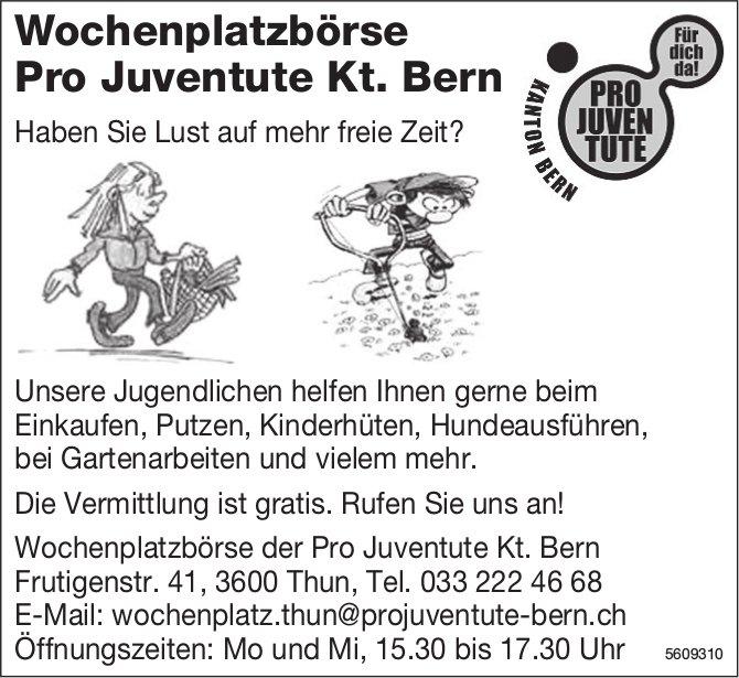 Wochenplatzbörse Pro Juventute Kt. Bern