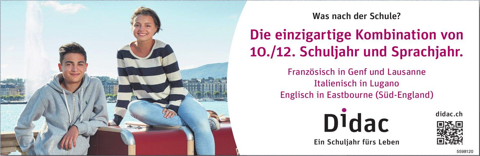 Didac - Die einzigartige Kombination von 10./12. Schuljahr und Sprachjahr.