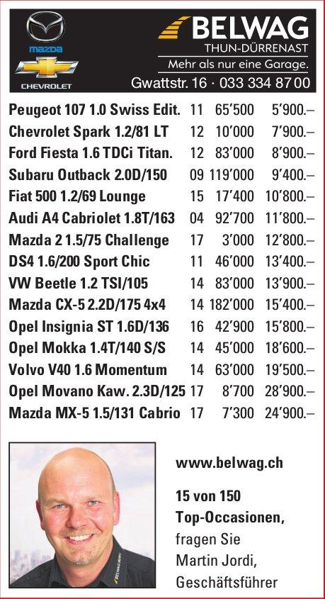 Belwag Thun-Dürrenast - 15 von 150 Top-Occasionen