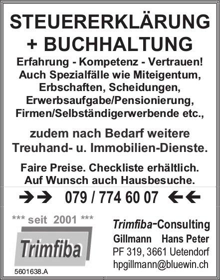 Trimfiba-Consulting, Uetendorf - Steuererklärung & Buchhaltung