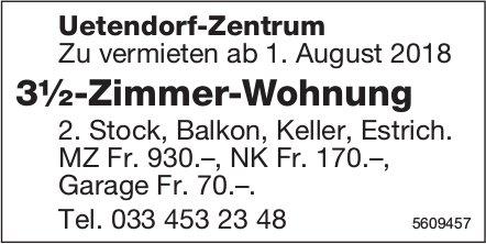3½-Zimmer-Wohnung in Uetendorf-Zentrum zu vermieten