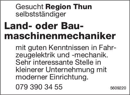 Land- oder Baumaschinenmechaniker, Region Thun, gesucht
