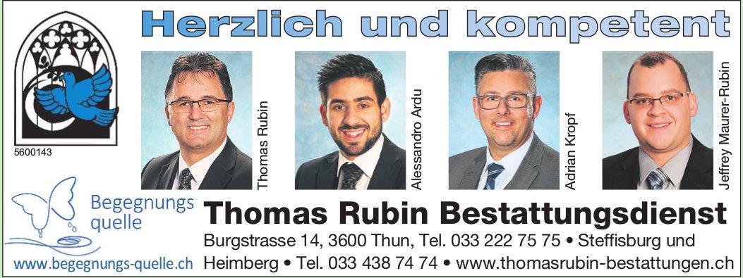 Bestattungsdienst Thomas Rubin, Thun, Steffisburg & Heimberg