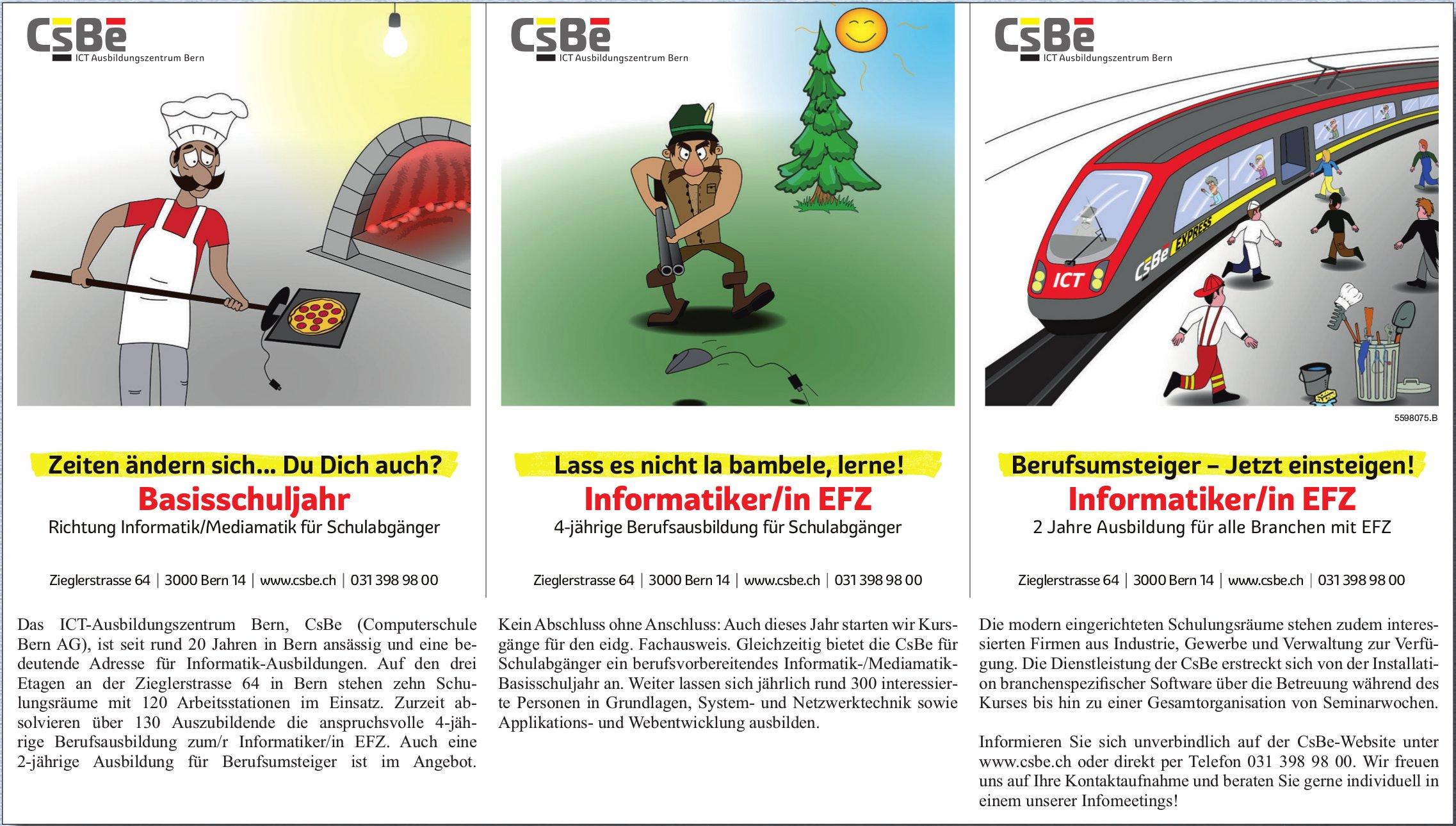 CsBe - ICT Ausbildungszentrum Bern