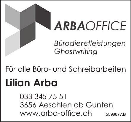 ArbaOffice, Aeschlen ob Gunten - Für alle Büro- und Schreibarbeiten