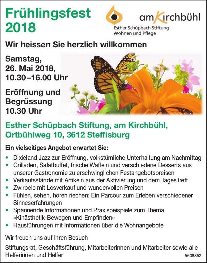 Esther Schüpbach Stiftung, am Kirchbühl - Frühlingsfest 2018 am 26. Mai