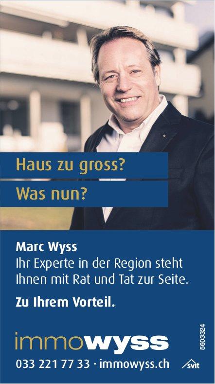 Haus zu gross? Was nun? Marc Wyss zu Ihrem Vorteil.