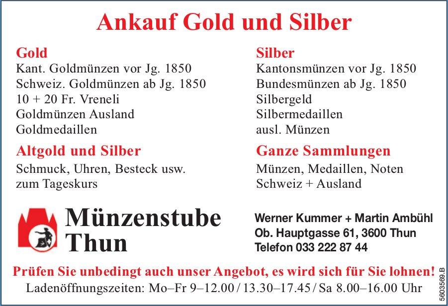 Münzenstube Thun - Ankauf Gold und Silber