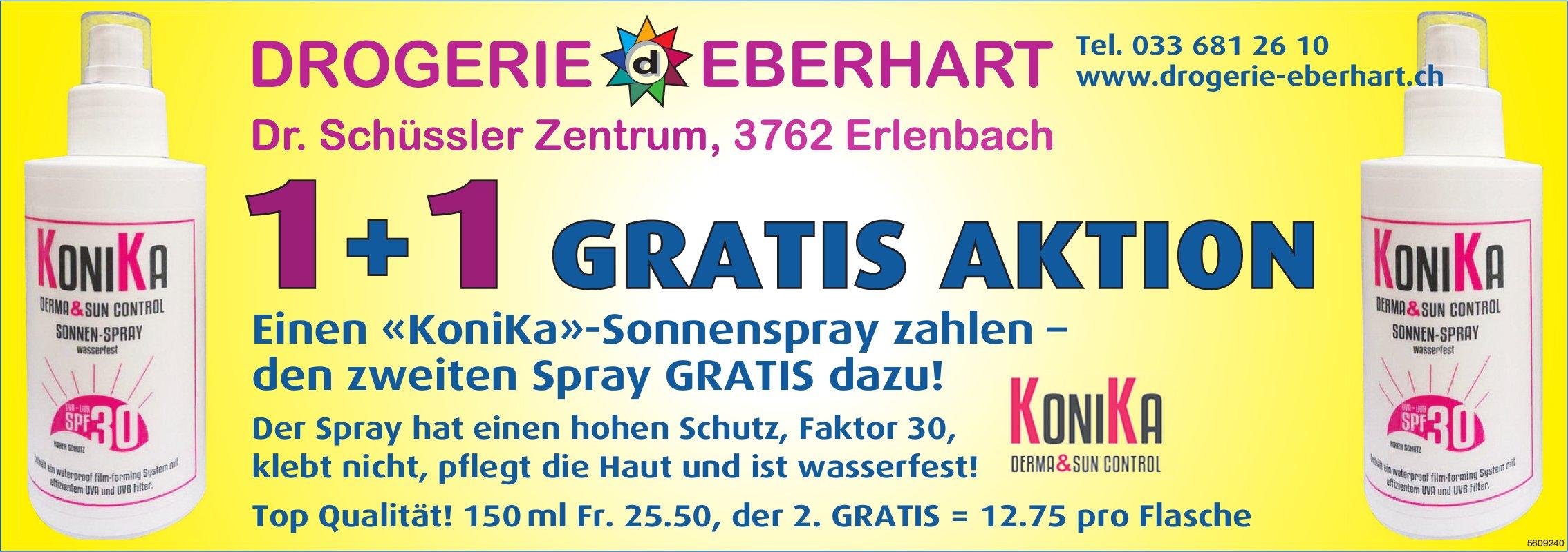 Drogerie Eberhart, Erlenbach -  «KoniKa»-Sonnenspray 1+1