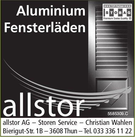 allstor AG, Storen Service - Aluminium Fensterläden