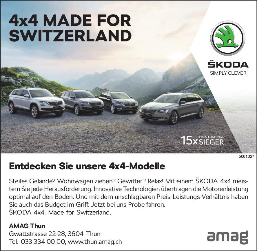 AMAG Thun - Entdecken Sie unsere Skoda 4x4-Modelle