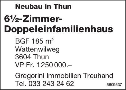6½-Zimmer- Doppeleinfamilienhaus, Neubau in Thun, zu verkaufen