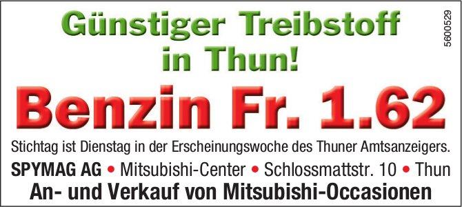 SPYMAG AG - Günstiger Treibstoff in Thun! Benzin Fr. 1.62