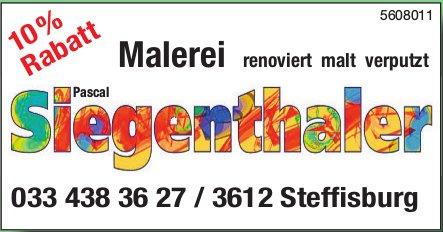 Pascal Siegenthaler Malerei renoviert, malt, verputzt. 10% Rabatt