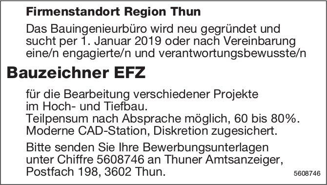 Bauzeichner EFZ, Bauingenieurbüro, Region Thun, gesucht