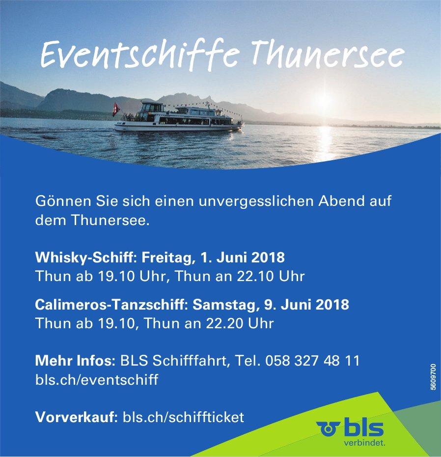Gönnen Sie sich einen unvergesslichen Abend auf dem Thunersee. 1. + 9. Juni