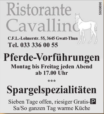 Ristorante Cavallino - Pferde-Vorführungen / Spargelspezialitäten