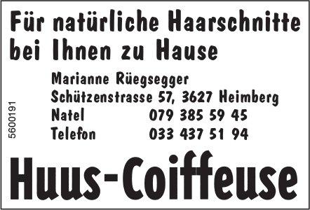 Huus-Coiffese, Heimberg - Für natürliche Haarschnitte bei Ihnen zu Hause