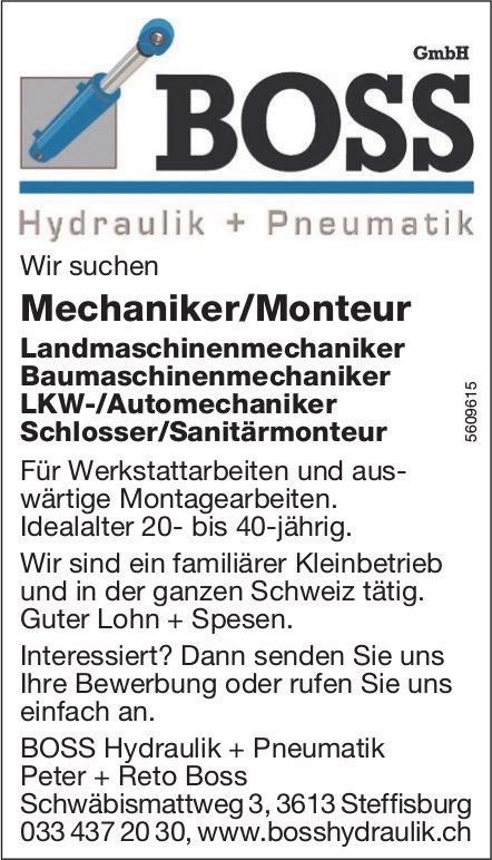 Mechaniker/Monteur etc., BOSS Hydraulik + Pneumatik GmbH, Steffisburg, gesucht