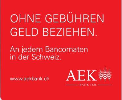 AEK Bank - Ohne Gebühren Geld beziehen
