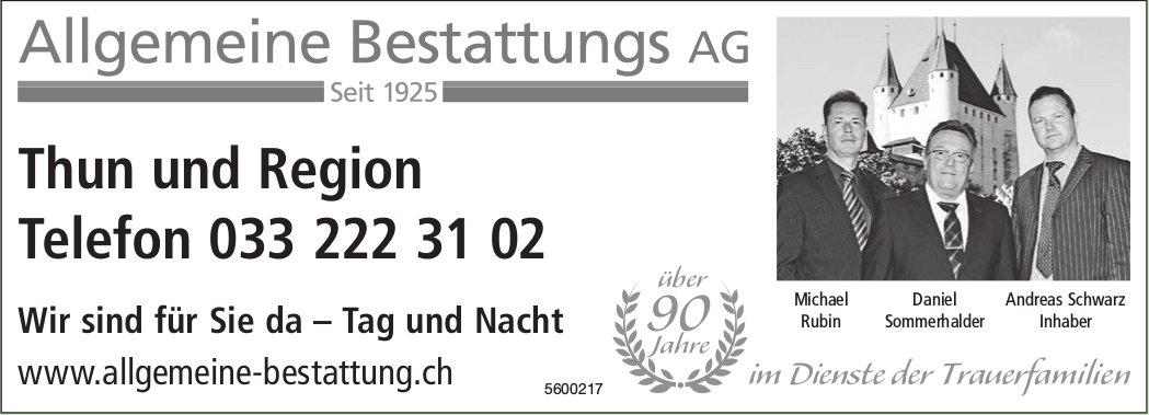 Allgemeine Bestattungs AG, Thun & Region